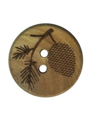 Houten knoop Takje - 20 mm