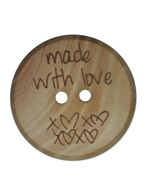 Houten knoop Made With Love