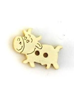 Houten knoop koe