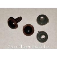 Bruine veiligheidsoogjes 10 mm
