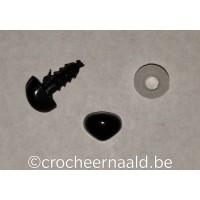 Veiligheidsneusje:  8 mm Zwart