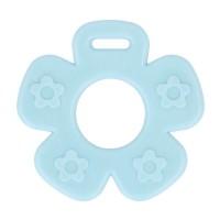 Bijtring Bloem open - 65 mm - Blauw