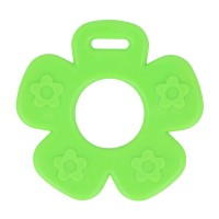 Bijtring Bloem open - 65 mm - Groen