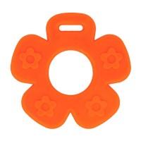 Bijtring Bloem open - 65 mm - Oranje