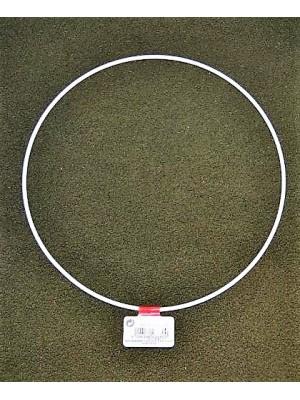 Metalen ring wit 15 cm