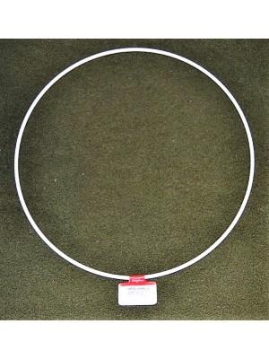 Metalen ring wit 25 cm