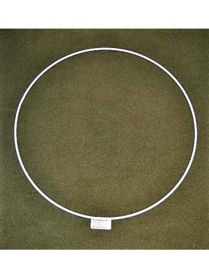 Metalen ring wit 35 cm