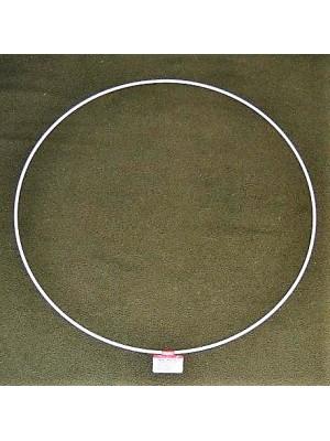 Metalen ring wit 40 cm