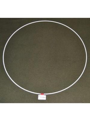 Metalen ring wit 45 cm