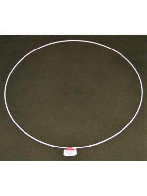 Metalen ring wit 50 cm