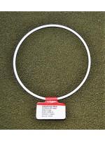 Metalen ring wit 10 cm