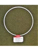 Metalen ring wit 12 cm